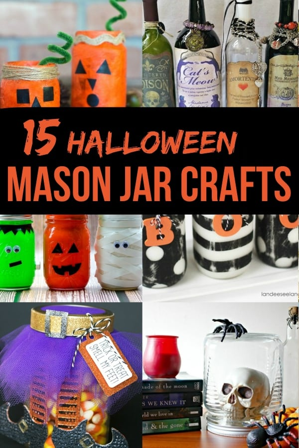 I can't get enough of these 15 Halloween Mason Jar Crafts that are ridiculously cute enough to die for. Or something--they're just cute. So look, enjoy, make, and tell me how it goes! #nerdymammablog #halloween #masonjar #masonjarcrafts #craft