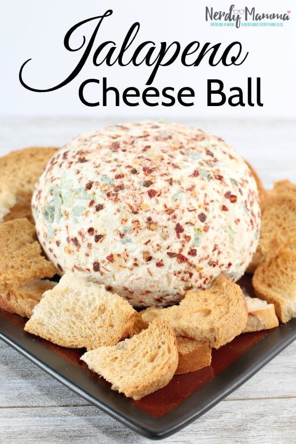 I have a desperate and undying love of spicy things. Even at the holidays...I just love having some heat with my turkey dinner spread. This Jalapeno Cheeseball is absolutely what hits the spot. #nerdymammablog #cheeseball #appetizer
