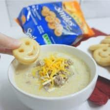 McCain Smiles and Dairy-Free Loaded Cheeseburger Soup