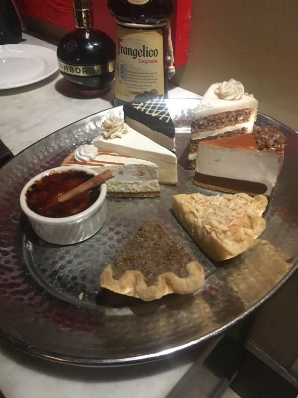 dessert platter at Texas de Brazil