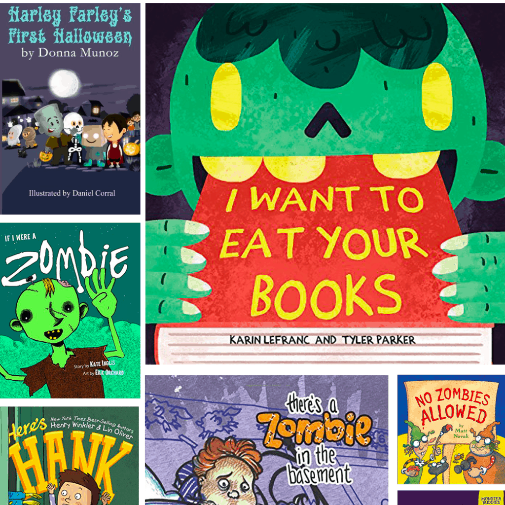 collage of zombie books
