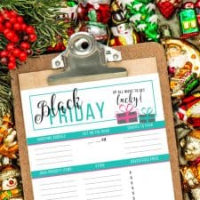 Free Printable Black Friday Planner – An EPIC Way to Organize This Years Shopping Spree