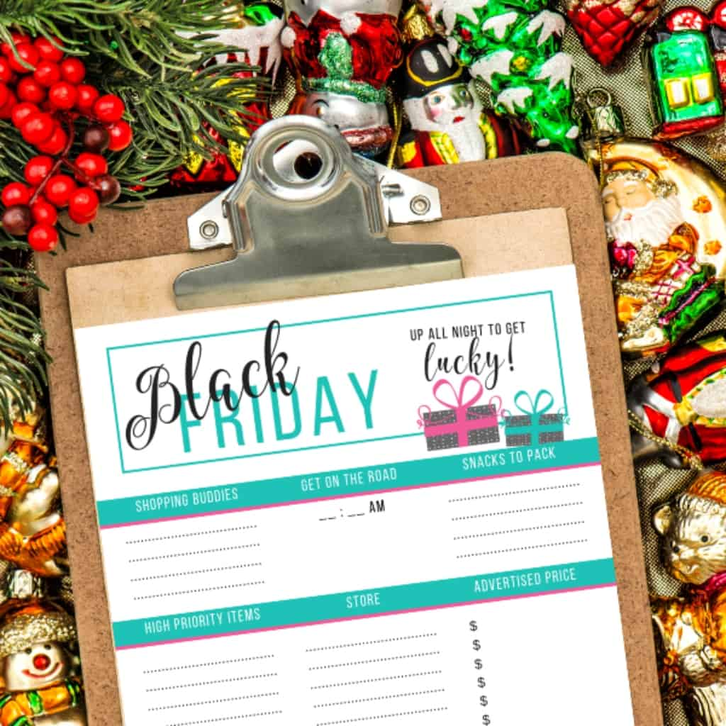 I look forward every year to planning out a great big Black Friday shopping spree. But I always feel so disorganized. NO MORE! I have this Free Printable Black Friday Planner and now I have an EPIC Way to Organize This Years Shopping Spree! #nerdymammablog #blackfriday
