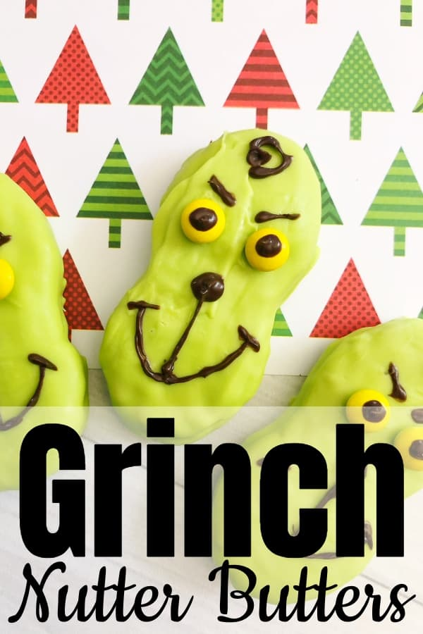 If I could make 10 snacks for my kids' holiday parties at school, the top of the list would be these simple Grinch Nutter Butters. Fast, easy, and so tasty I have to say, I may have eaten more than my share. #nerdymammablog #grinch