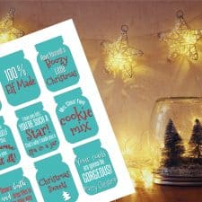 Free Printable Mason Jar Gift Tags