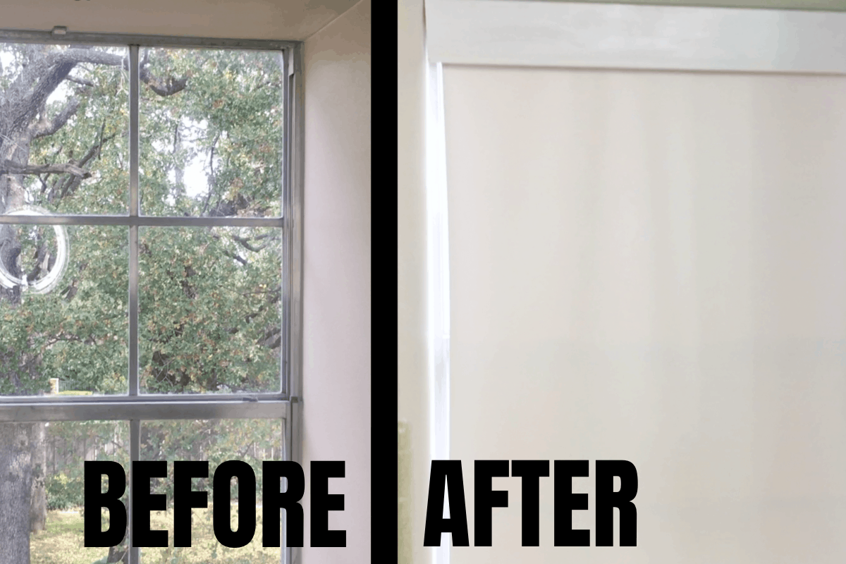 Super-simple, but really impactful improvement to any window, this is How to Install a Roll-up Blind and Valance. #nerdymammablog #diy