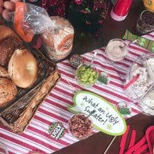 How to Host an Ugly Christmas Sweater Party and a DIY Hack Your Bagel Bar