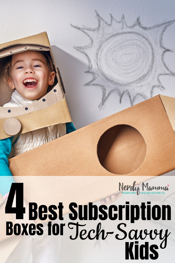 Sometimes, it's hard to find that perfect gift for those kids who know...here are a few of my recommendations for Best Subscription Boxes for Tech-Savvy Kids. #nerdymammablog #subscriptionboxes
