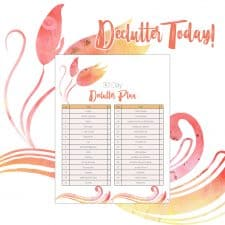 Free Printable 30-Day Decluttering Plan