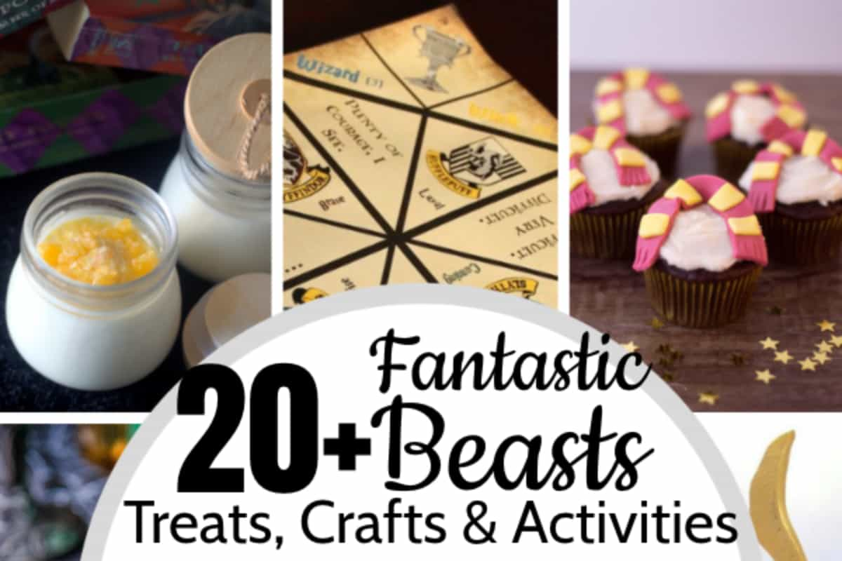 These 20 Simple Fantastic Beasts Treats & Crafts & Activities are the absolutely most perfect ideas for a Fantastic Beasts Party! Newt Scamander-approved. #nerdymammablog #fantasticbeasts