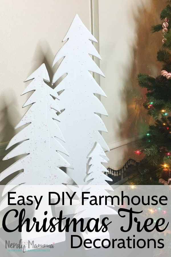I decided to do a DIY project for a Christmas gift. Something simple, but that I knew my friend would love in her farmhouse-design home. This is How to Make Simple Farmhouse Christmas Tree Decorations. #nerdymammablog #diy #christmas
