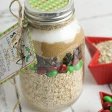 Monster Holiday Cookies in a Jar