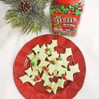 4-Ingredient Holly Cookies
