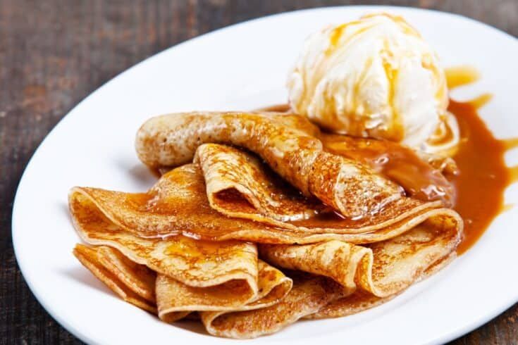 Vegan Butterbeer Crepes