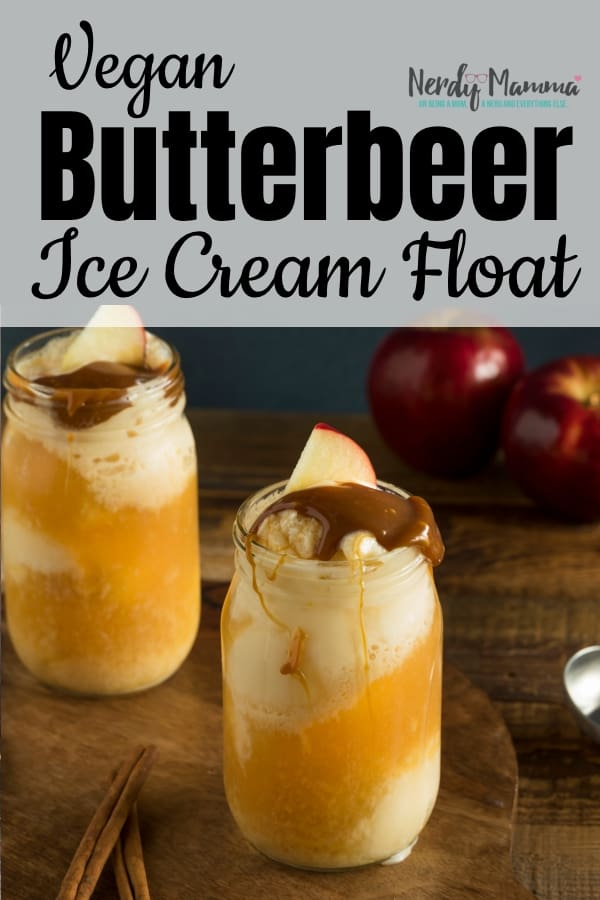 My life is a series of wonderful easy Harry Potter desserts lately. A revolving door of--oooh! Hey look, it's a Vegan Butterbeer Float! #nerdymammablog #butterbeer #harrypotter #vegan