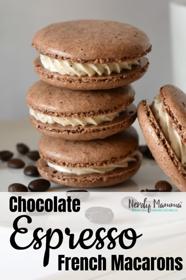 So, I decided to take a plunge and try this amazing recipe from a friend for Chocolate Espresso Macarons. I was not disappointed. So amazing. #nerdymammablog #frenchmacaron