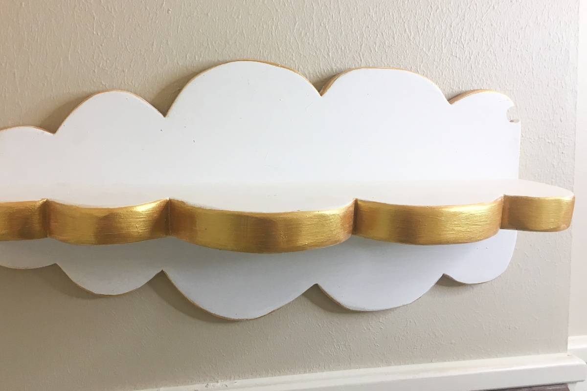 Simple DIY project to add a little shelf space in a guest bath. This is How to Make a Cloud Shelf for the Bathroom. #nerdymammablog #diy #bathroom
