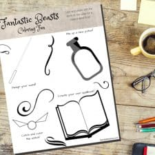 Fantastic Beasts Free Printable Coloring Page