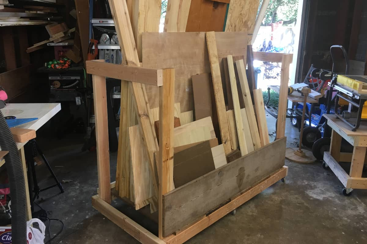 Simple problems sometimes need simple solutions--and my problem was too much scrap wood. Here's How to Make a Scrap Wood Cart Made From Scrap Wood. Simply. #nerdymammablog #diy