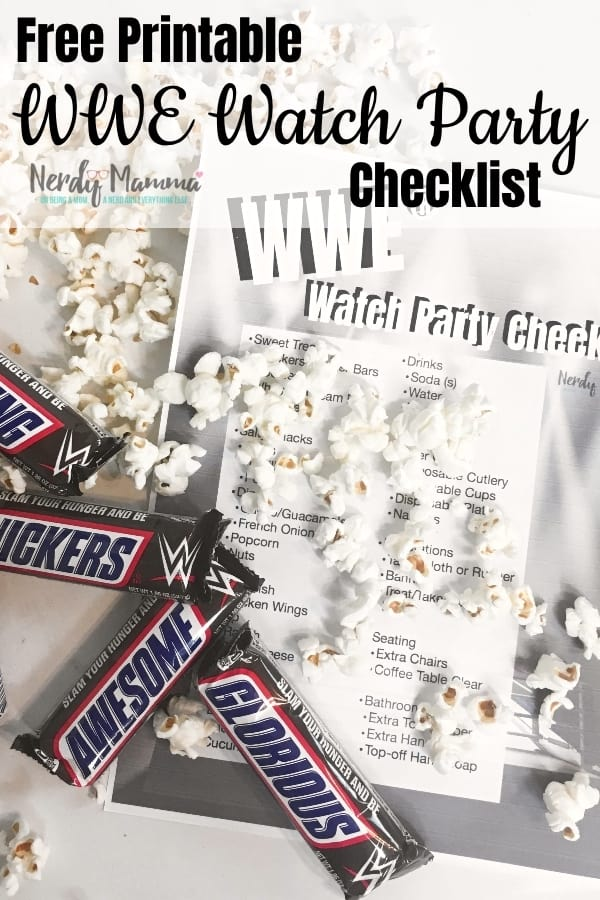 #ad Everything you need to host a watch party on this Free Printable WWE Watch party checklist! I found all the @snickers I needed @mydollargeneral ! #EatASNICKERS