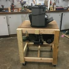 Simple Rolling Flip-Top Tool Cart