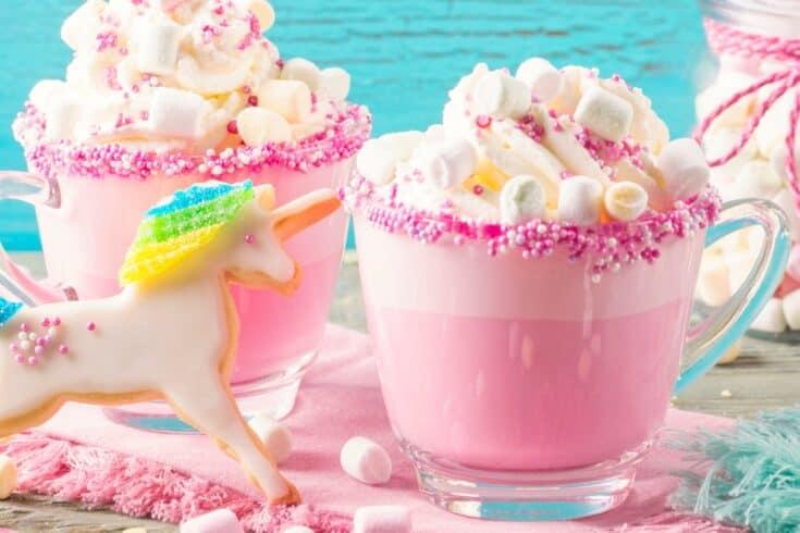Dairy-Free Hot Chocolate - Vegan Unicorn Hot Cocoa