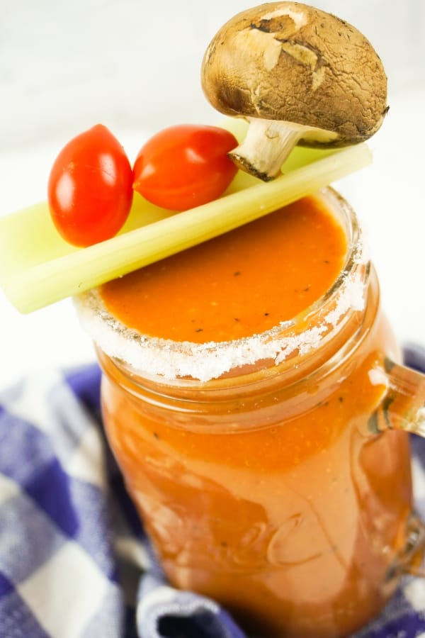 I have a secret love: Brunch. And this week, when I was in charge, I decided to make this Easy Bloody Mary Recipe so that we could enjoy a little bite of tomato. #nerdymammablog #bloodymary #easybloodymary #brunch