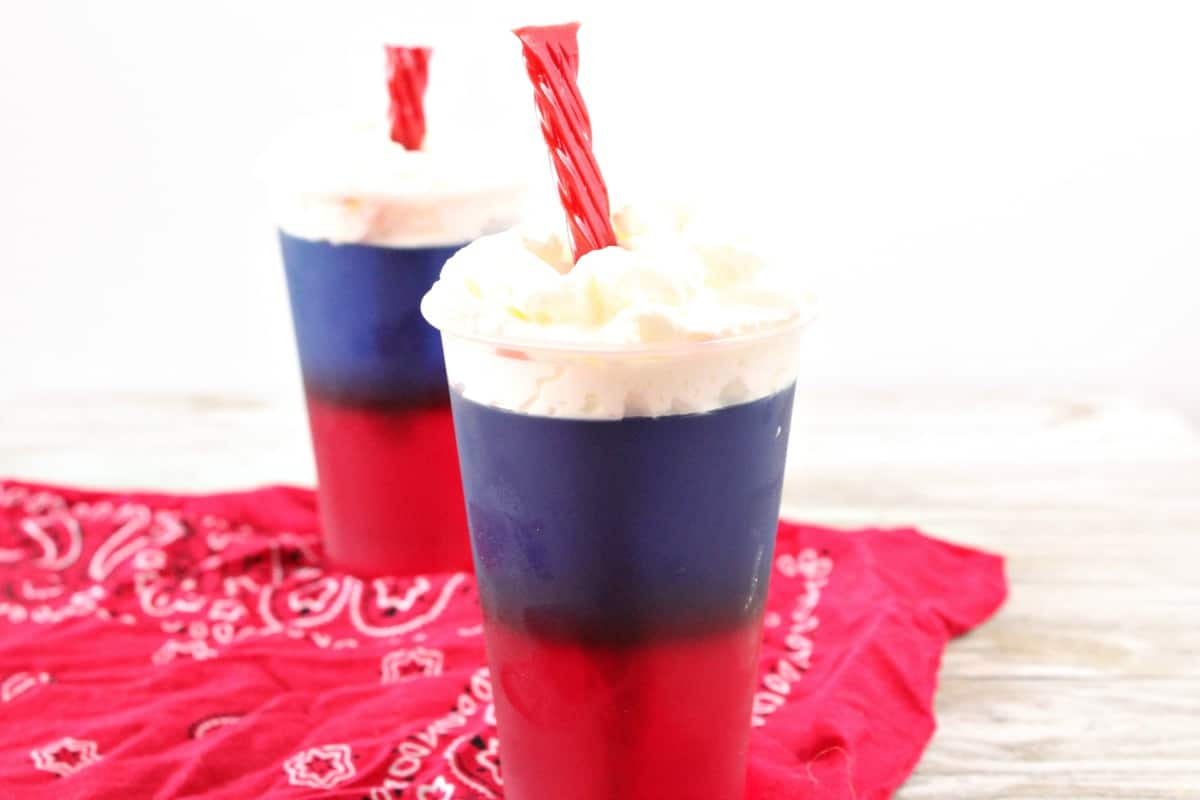 This super easy recipe for Simple Firecracker Jello Cups has really gotten me excited about the 4th of July! I mean, I'm always excited--but this year, there will be fireworks in my mouth! #nerdymammblog #jello #fireworksjello #fourthofjulyfood #4thofjuly