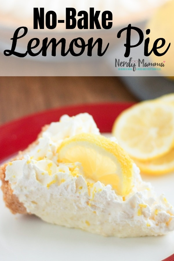 If there was ever a dream-pie in existence, it would be one that was easy and fun--and last-minute fast. This Simple No-Bake Lemonade Pie is as close to dreams as one can get! #nerdymammablog #lemonpie #nobakepie #pierecipe #pie #freezerpie