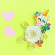 Paper Quilled Unicorn Craft