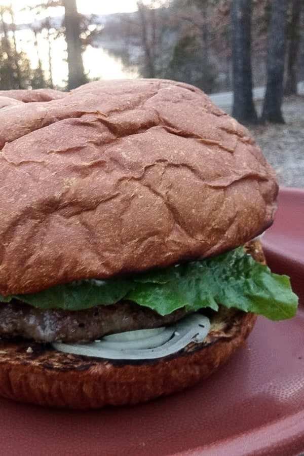 We decided to go camping this weekend and decided to make this Colossal Campfire Burger. It's huge--so huge it fed all 4 of us...and it was so good I couldn't wait to share. #nerdymammablog #campingrecipe #campfire #campfireburger