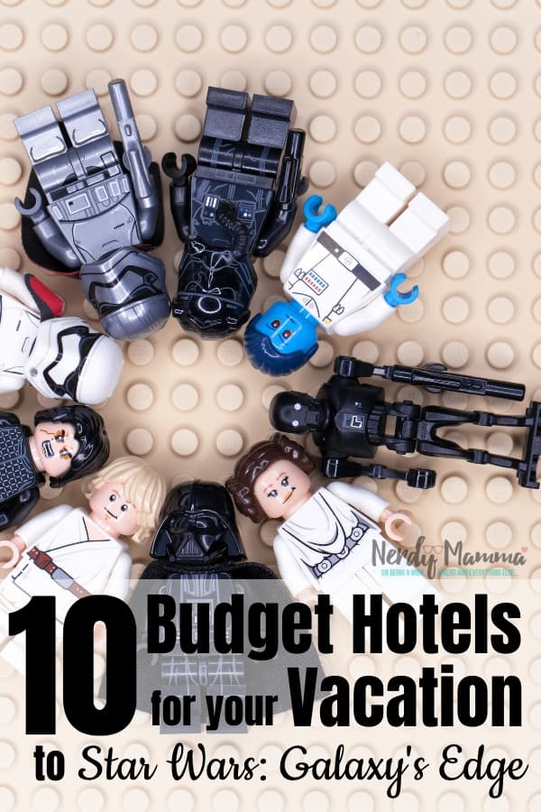 I am so excited to be planning a trip to the newest Disney attraction! If you're doing the same, here's 10 Budget-Friendly Hotels For Your Star Wars: Galaxy's Edge Vacation in California! #nerdymammablog #starwars #starwarsgalaxysedge #hotels #disney #disneyvacation