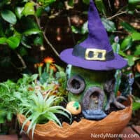 easy witch fairy house made of clay