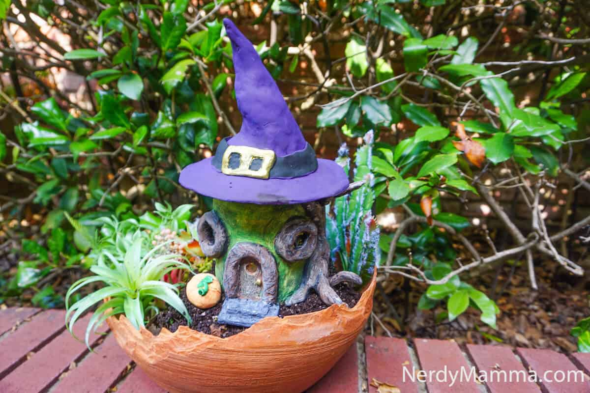 witch fairy house tutoial