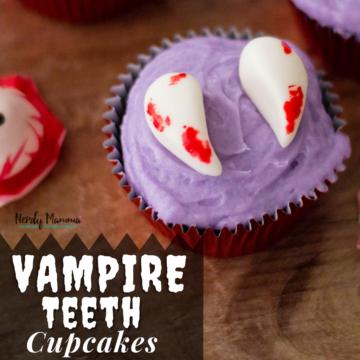 Vampire Teeth Cupcake