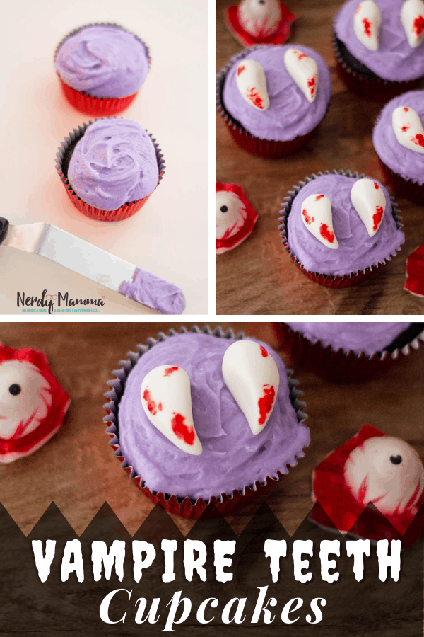 Vampire Fangs cupcakes