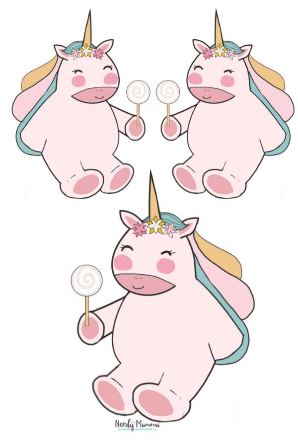 Printable 3 Unicorns