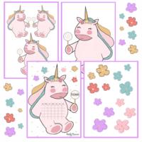 Printable Unicorn Calendars