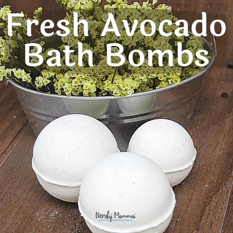 Fresh Avocado Bath Bombs