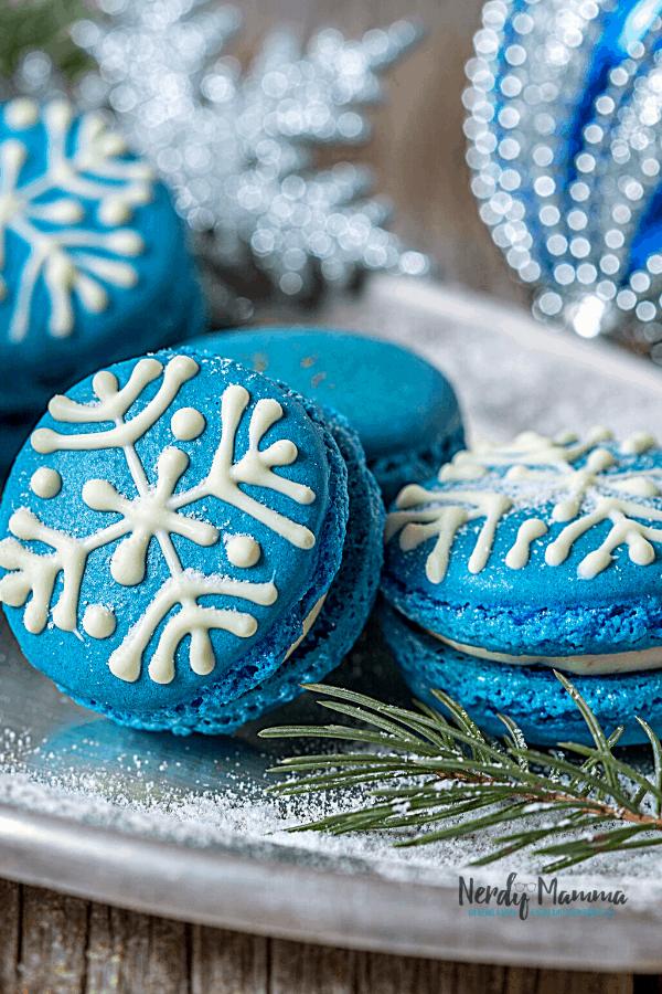 Easy blue winter cookies