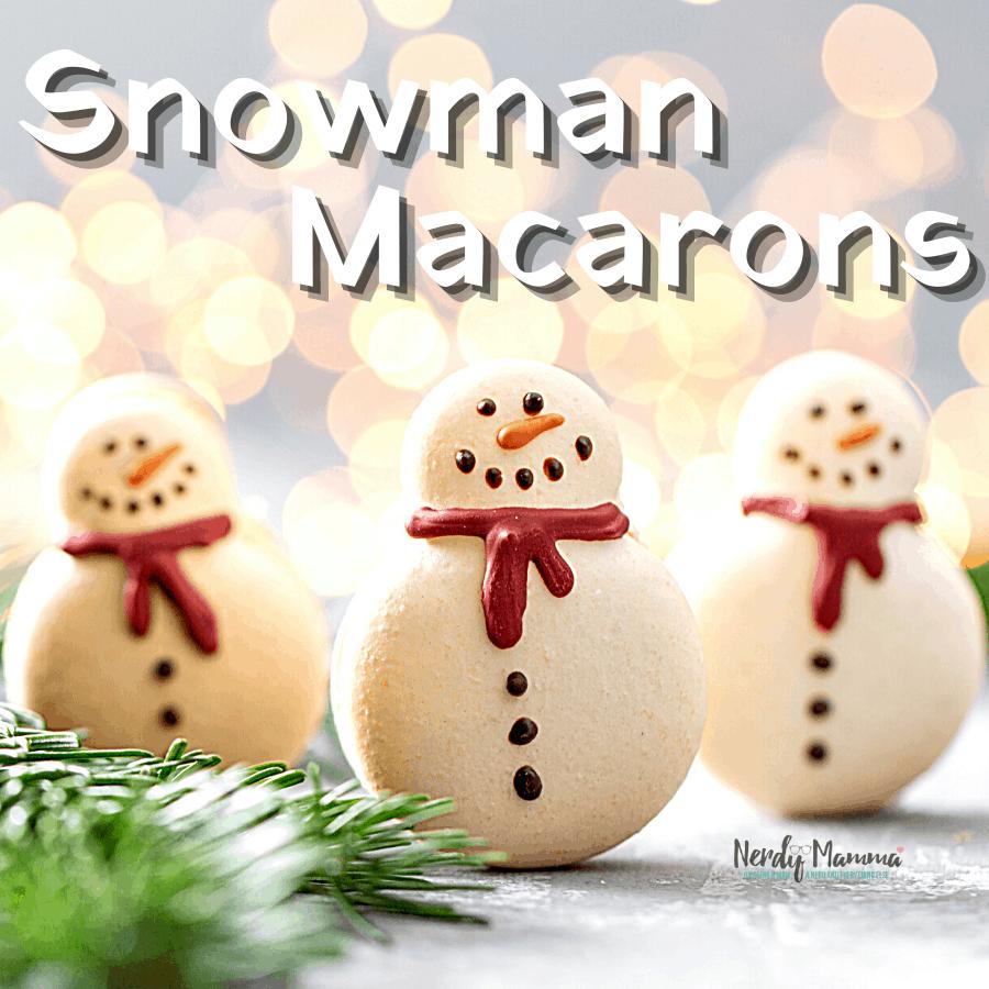 Snowman Macarons recipe