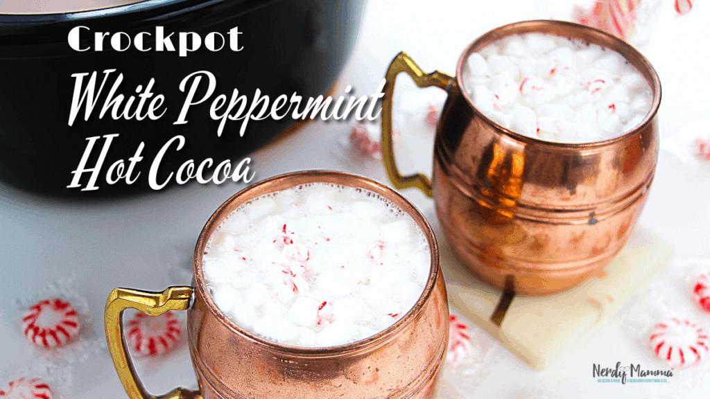Crockpot White Peppermint Hot Chocolate