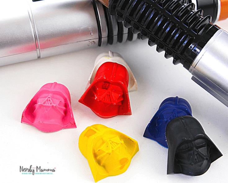 DIY Darth Vader Crayons