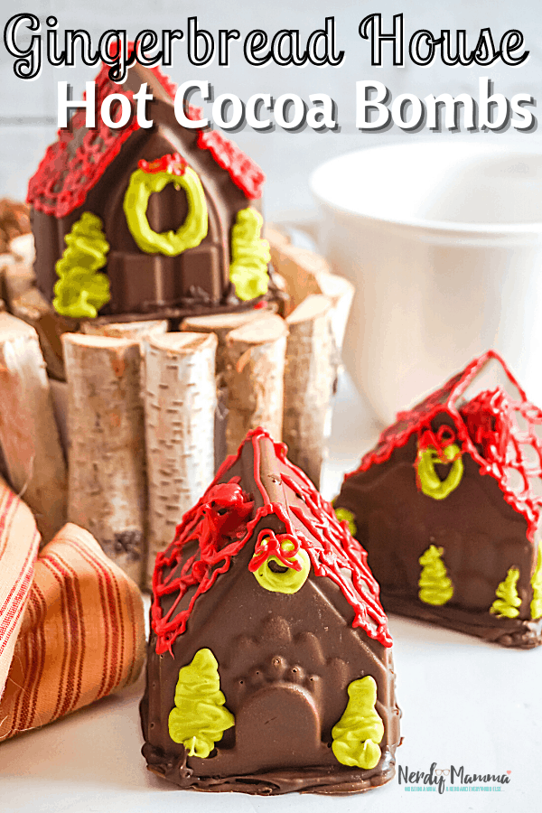 Gingerbread House Hot Cocoa Bombs