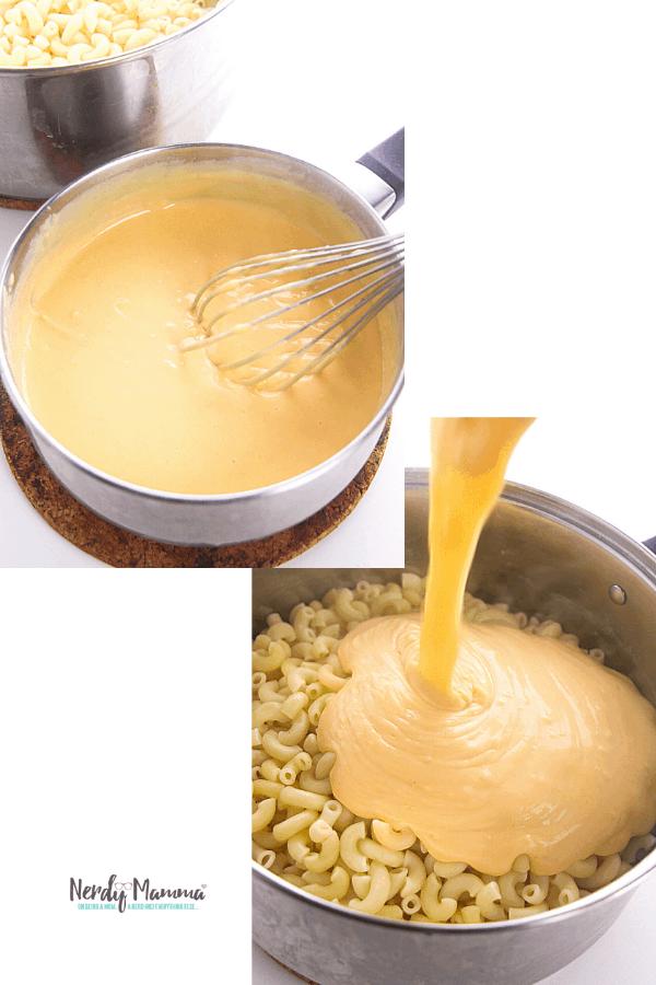 Making mac & cheese