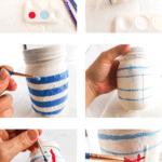 Paper designed mason jar