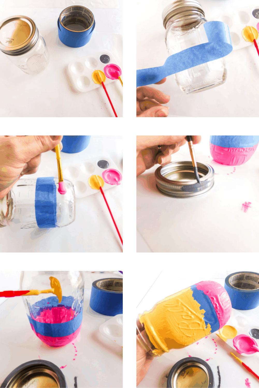 Pencil designed mason jar