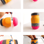 Pencil painted jar craft