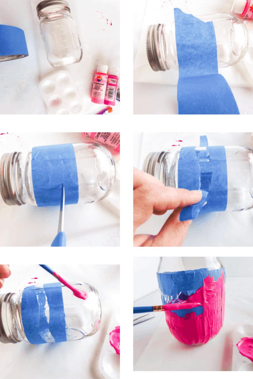 Crayon designed mason jar