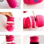 Crayon painted jar craft